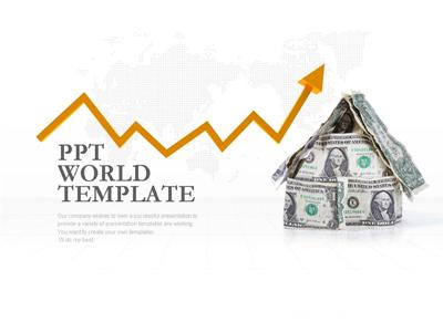성장하는 금융 템플릿 파워포인트 Ppt 템플릿 디자인